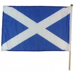 "Scottish Saltire Hand Waving Flag - 18"" x 12"""