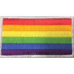LGBT Rainbow Embroidered Flag Patch