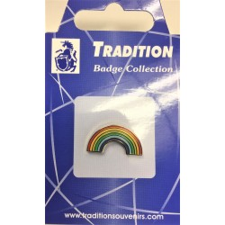 LGBT Rainbow Arch Shaped Pin Badge