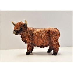 Highland coo Resin Ornament 6cm