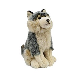 GREY WOLF SOFT AND CUDDLY TOY