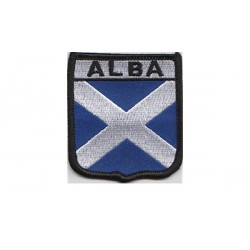 Scotland Saltire Alba Flag Embroidered Patch Badge