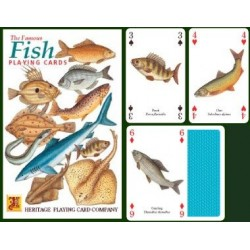 Heritage Playing Cards Fish. Fresh Water & Sea