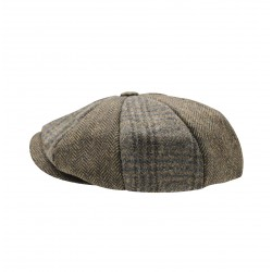 Heritage Patchwork Newsboy Cap - Brown Two Tone