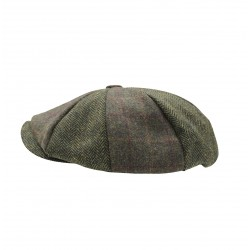 Heritage Patchwork Newsboy Cap - Green Two Tone