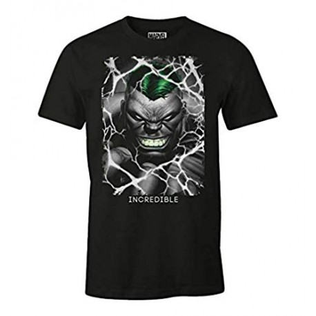 Incredible Hulk Men's Crew Neck Short Sleeve T-Shirt (L)