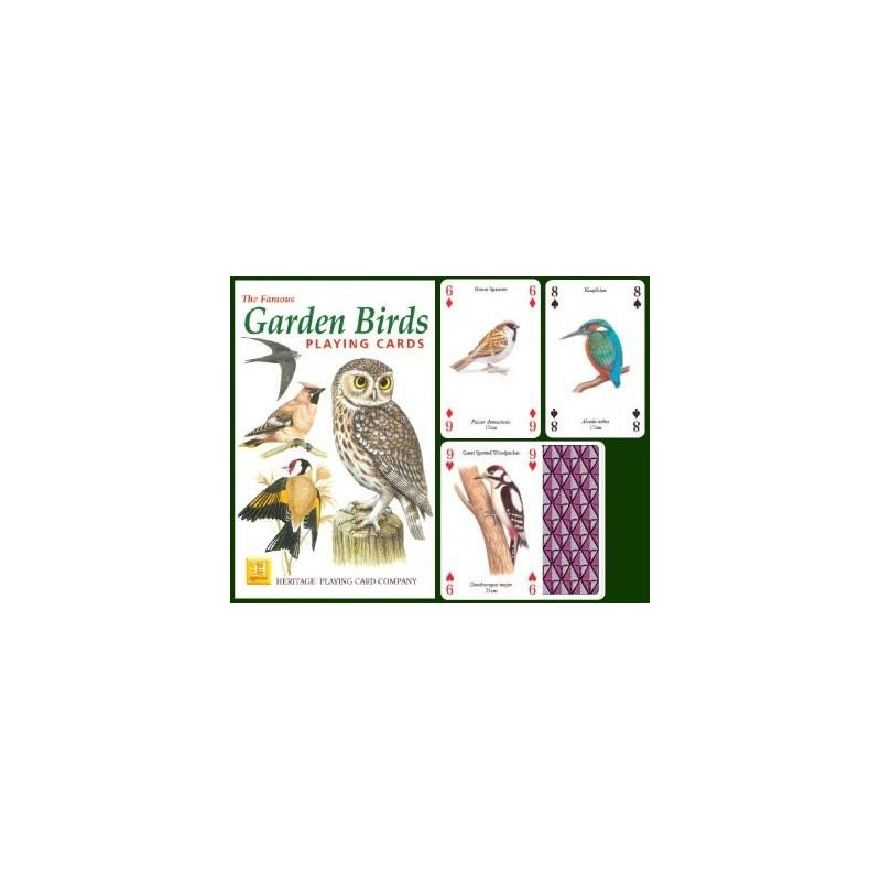 Heritage Playing Cards - Garden Birds Playing Cards