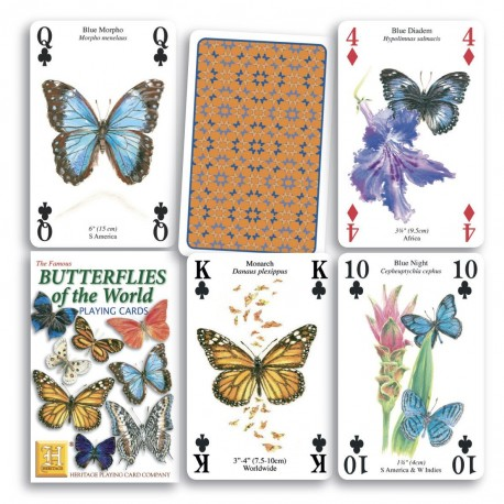 Heritage Playing Cards Butterflies of the World Playing Cards