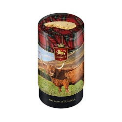 Stewart's Scotland - Highland Cow Tube Filled with Luxury Shortbread 150g