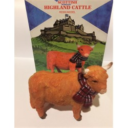 Highland Coo Resin Model