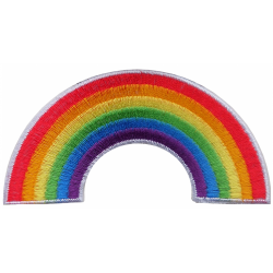 LGBT Rainbow Shaped Embroidered Patch