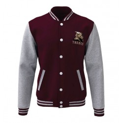 Avengers Endgame - Thanos Varsity Jacket Burgundy-Grey (XXL)