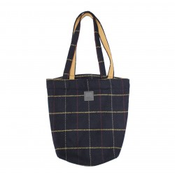 Tweed Shopping Bag (Navy Colour)