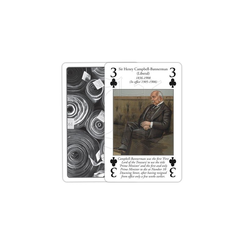 History of the Office of Prime Minister Playing Cards