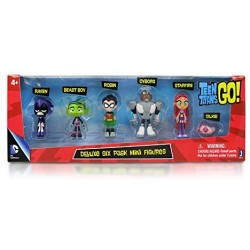 Teen Titans Go Deluxe Mini Figures Pack of 6