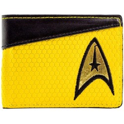 Star Trek Starship Enterprise Command Shirt Yellow Coin and Card Bi Fold Wallet