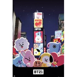 BT21 Times Square Maxi Poster Picture 61x91.5cm | 24x36 inches