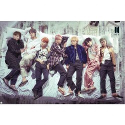 BTS KOREAN BOY BAND LARGE POSTER 90X60CM - OFFICIAL GIFT