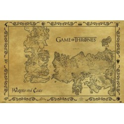 GAME OF THRONES ANTIQUE MAP POSTER 91.5 X 61 CM OFFICIAL MERCHANDISE