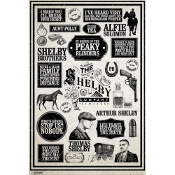 Peaky Blinders Poster, Multi-Colour, 61x91.5cm