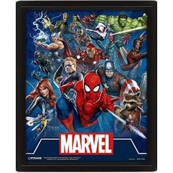 Marvel Comics Cinematic Icons 3D Framed Lenticular Poster 20x25cm
