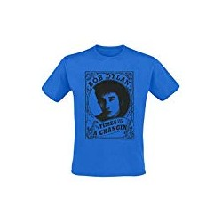 Bob Dylan Time They are Changing T-Shirt Blue Medium