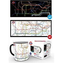 Transport For London Underground Map Heat Changing Mug