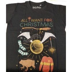 All I Want for Christmas Harry Potter T shirt Large