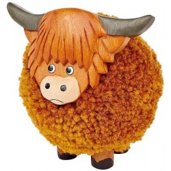 Highland Cow Pom Pom Ornament