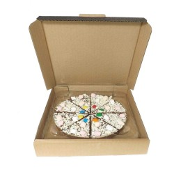 """7"""" Chocolate Pizza with Mallow and Chocolate Bean Topping"""