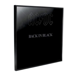 Nemesis Now ACDC Back in Black Crystal Clear Picture 32cm, One Size