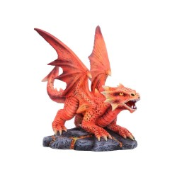 Nemesis Now Anne Stokes Age Small Fire Dragon Figurine, Red, One Size