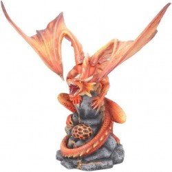 Adult Fire Dragon Anne Stokes 24.5cm Figurine, Resin, Red