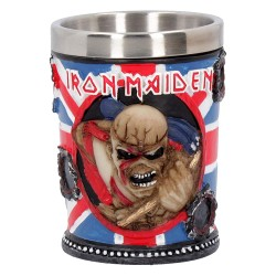Nemesis Now Iron Maiden Shot Glass 7cm Blue, Resin w/Stainless Steel Insert