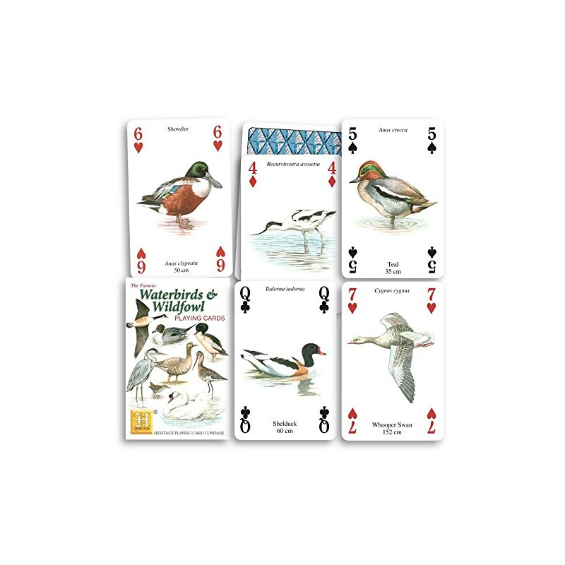 Heritage Playing Cards. Waterbirds and Wildfowl