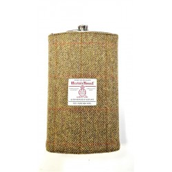Giant 64oz Hip Flask Harris Tweed