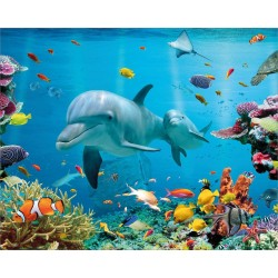 Tropical Ocean Mini Poster, Multi-Colour, 40 x 50 cm