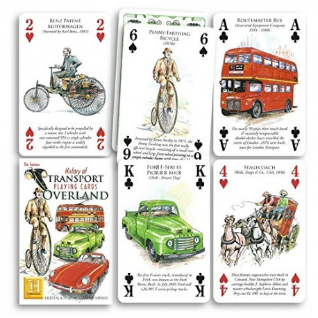 Heritage Playing Cards - History of Transport - Overland Playing Cards