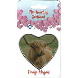 The Heart of Scotland Highland Cow Magnet