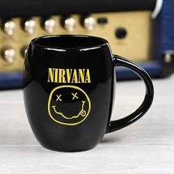 Nirvana Smiley Oval Ceramic Mug 15 Ounces