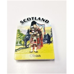 Scotland Highland Piper Fridge Magnet resin 7cm by 5.5cm