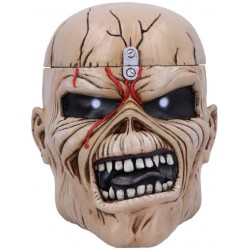Nemesis Now Iron Maiden Eddie The Trooper Head Trinket Box, Polyresin, Beige, One Size