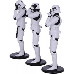 Nemesis Now Original Stormtrooper Three Wise Sci-Fi Figurines, White, One Size