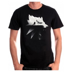 The Witcher Wolf Silhouette Men T-Shirt XL
