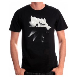 The Witcher Wolf Silhouette Men T-Shirt - L