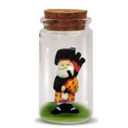 Enchanting Scottish Piper in glass jar