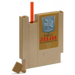 Just Funky The Legend of Zelda Gold Nes Cartridge Canteen Flask Nintendo 8oz