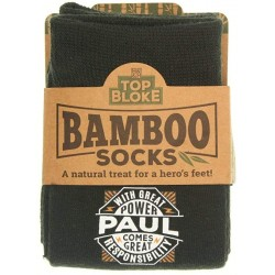 Mens Gift Socks Paul - A Natural Bamboo Treat for a Hero's Feet