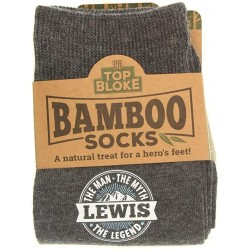 Mens Gift Socks Lewis - A Natural Bamboo Treat for a Hero's Feet