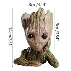 Resin Baby Groot Flower Pot